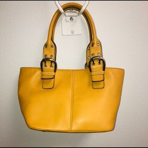 TIGNANELLO yellow shoulder bag